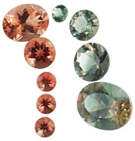 Oregon Sunstone, sunstone, exotic sunstone, red sunstone, green sunstone, sunstone gem, oval sunstone, round sunstone